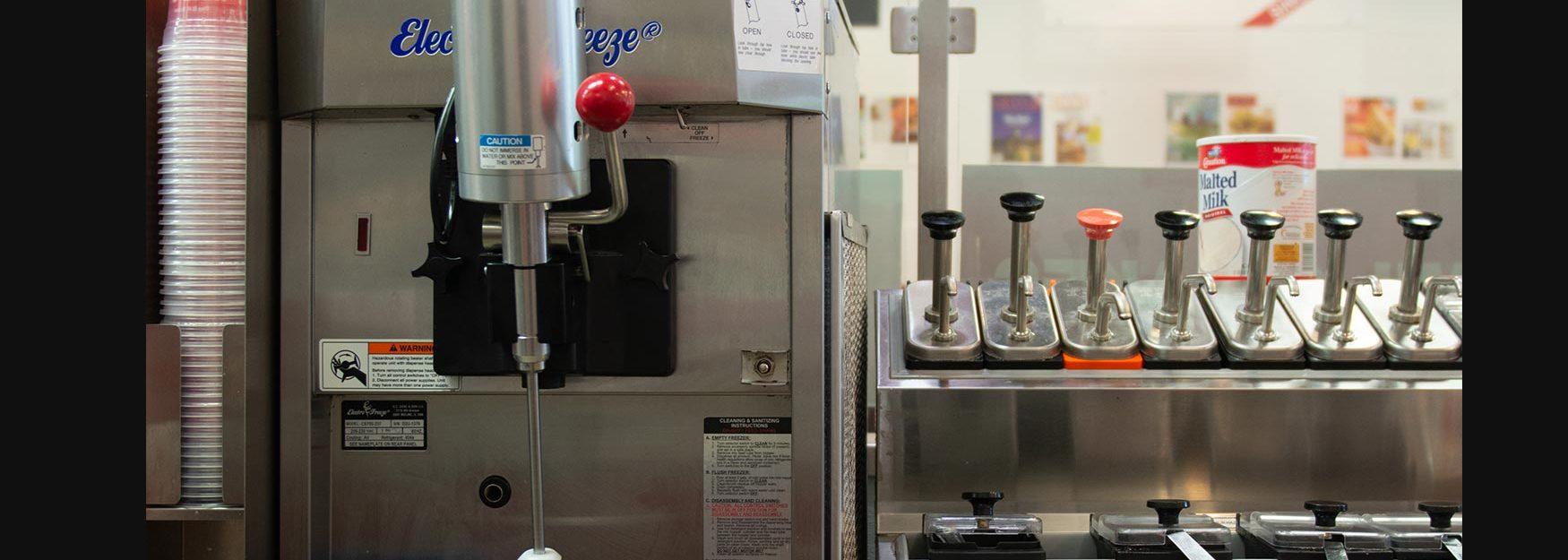 Electro Freeze Gravity Fed Countertop Shake Machine